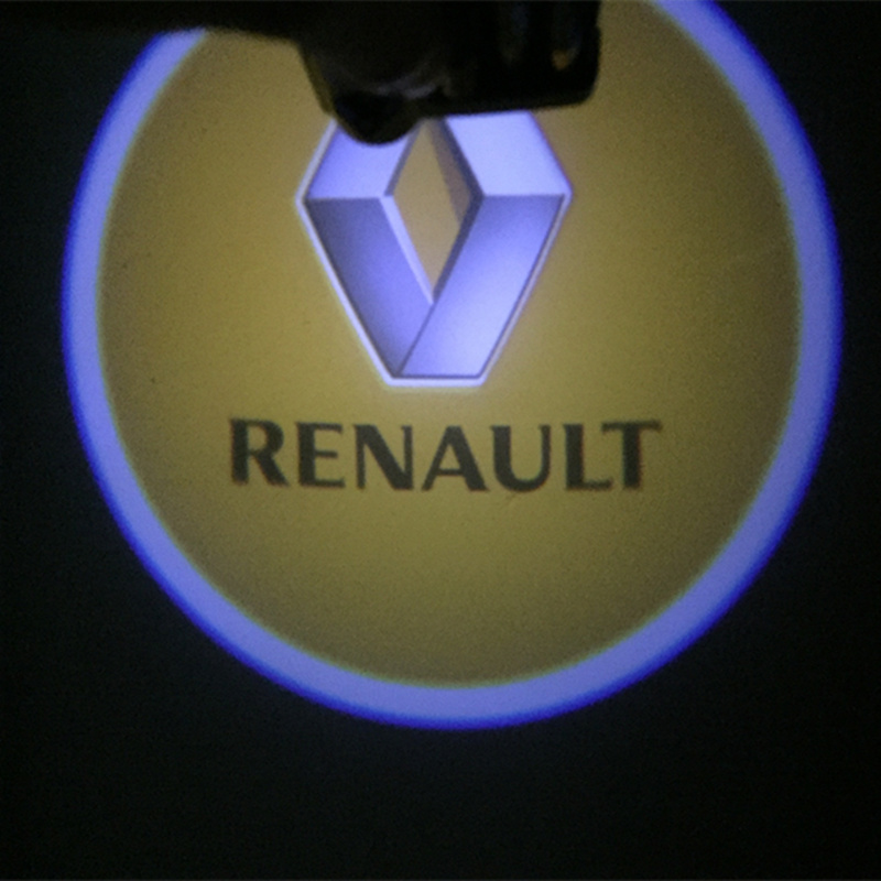 2x <font><b>LED</b></font> Car Door Logo Projector Laser Light For <font><b>Renault</b></font> Megane 3 Logan Duster Laguna 2 Clio Scenic <font><b>Captur</b></font> Laguna Fluence Sandero image