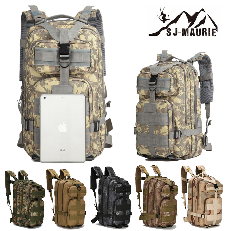 30L Outdoor Tactical Hiking Backpack Waterproof Camouflage Climbing Bag Military Travel Rucksack For Hunting Camping Pack