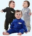 Perdido dinero para borrar baby boy ropa deportiva establece 2 unids trajes de los chándales de los niños ropa de abrigo infantil ropa de los cabritos sets
