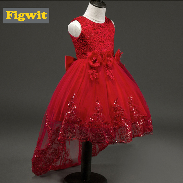 eaeb4454ab3a Figwit Flower Dress for Wedding Evening Teenage Red Lace Party Dance ...
