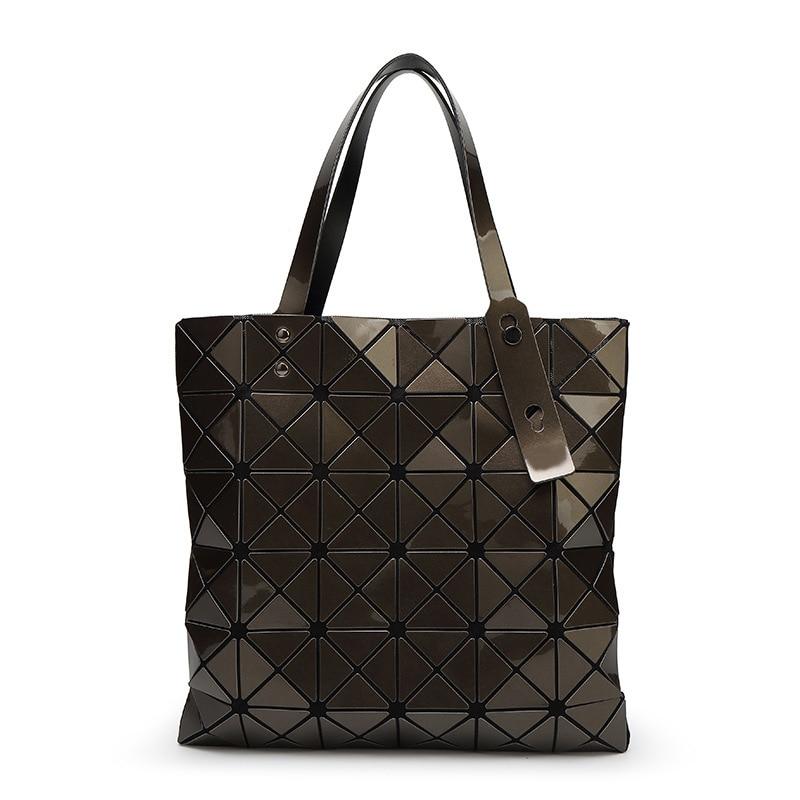 a320f6bb3e616 Bolso plata Shopper Silver Plaid Bolsos Mujer Negro Bolsas marrón Fold De  Hombro matt Moda Sobre ...