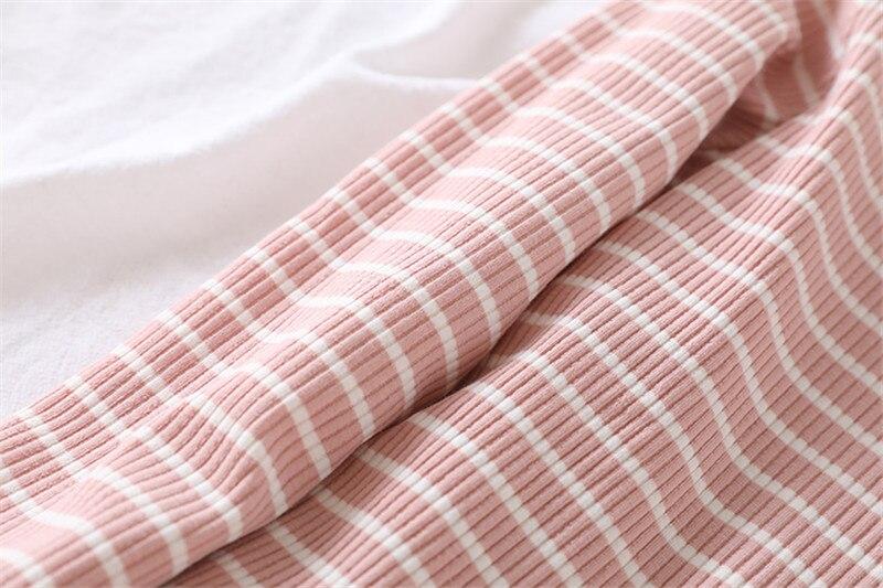 de Lã Listrado Camisas Em Torno Do Pescoço Fino Tops