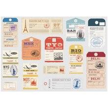 13x etiqueta Vintage para equipaje, tamaño A4, equipaje, iPad, portátil, Skateboard, bicicleta, motocicleta, adhesivo decorativo para coche