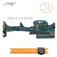 YTAI I5-4210 pour Lenovo YOGA S1 Ordinateur Portable Carte Mère LA-A341P avec I5-4210 CPU RAM 4 GB REV: 1A 00HT169 Carte Mère 100% testé