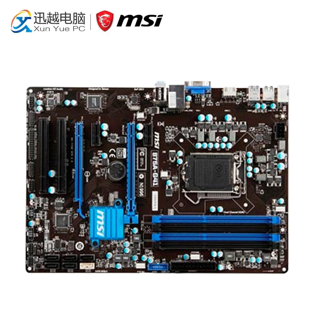 все цены на MSI B75A-G41 Desktop Motherboard B75 Socket LGA 1155 i3 i5 i7 DDR3 32G SATA3 USB3.0 ATX On Sale онлайн