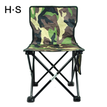 Camouflage Portable Folding Camping Chair Seat Hiking Beach Garden  Outdoor Fishing Travel Have A Backrest 600D Oxford cloth New