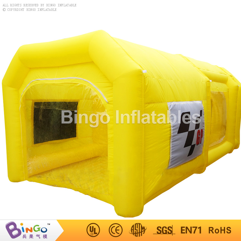 Commercial Portable Paint Booth 6*3*2.5MH Inflatable Spray Booth Car Paint Booth For Car Paint Used With Filter System Toys Tent