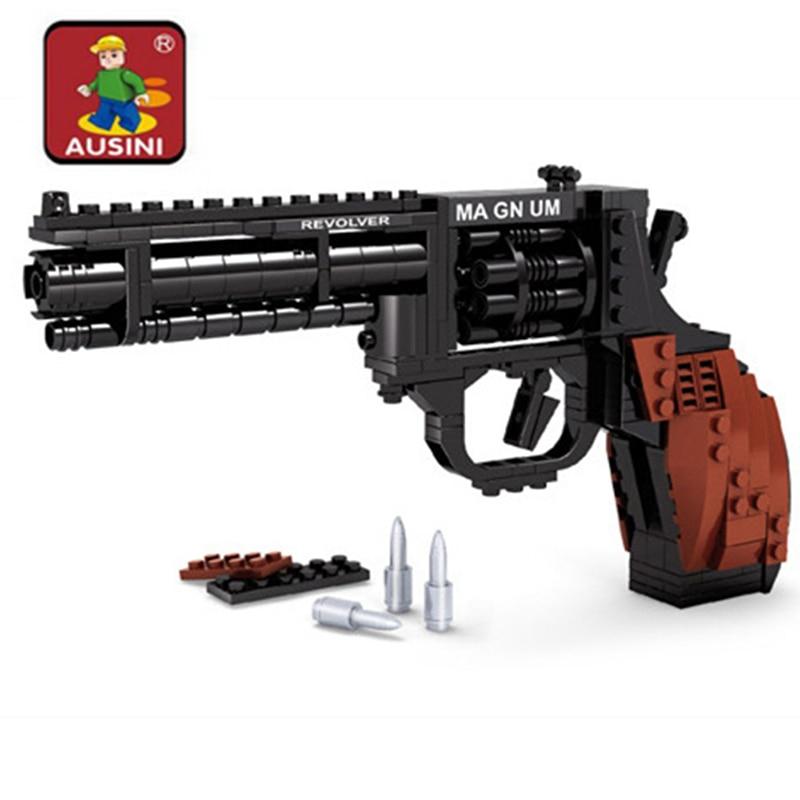 300pcs DIY Gun Assembly Blocks Toy Gun Building Block Mursten Pistol Legetøj Model pistol Børns Uddannelsestøj Gave