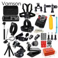 GoPro Accessories 42 In 1 Set Family Kit Go Pro SJ4000 SJ5000 SJ6000 Accessories Package For
