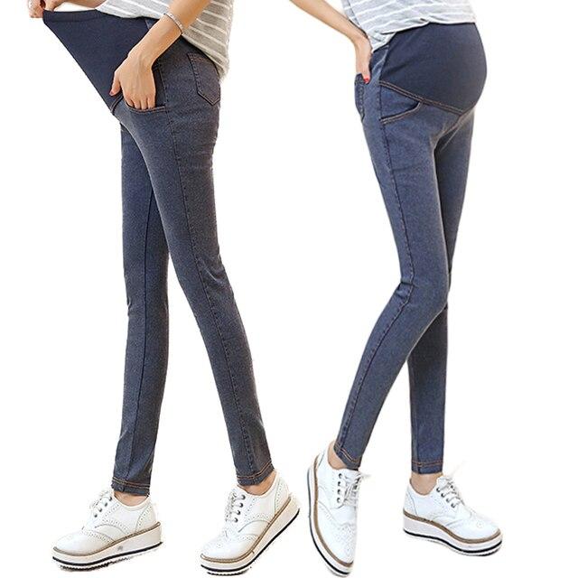Сделать весной и осенью период и новый желтая линия беременные женщины джинсы промывной воды беременные женщины карандаш штаны показать ой