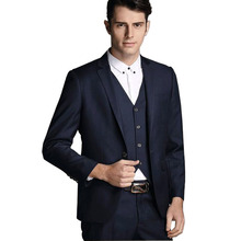 2016 new arrival terno masculino Business casual mens suits 3 piece suits jacket with pants Formal wedding dress Slim Blaser298