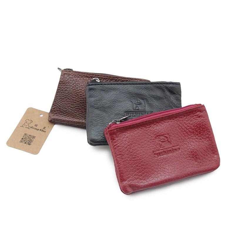 Top Brand Fashion Double Zippers Man Housekeeper Car Key Wallets Genuine Leather Arc Key Holders Alligator