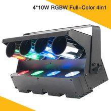 New LED Roller Scanner Light 4 Eyes 10W Powerful Led 360 Degree Unlimited Drum Scanning Effective Disco Light