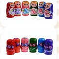 5pcs Matryoshka Doll Set Novelty Russian Nesting Wooden Hand Painted Decor Russian Nesting Dolls Baby Toys for Girl Doll