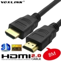 8 M OD7.3MM 2160 P PREMIUM ORO V2.0 CABLE HDMI 2.0 con Ethernet 4 K 18 GBPs Para BLURAY 3D HDTV DVD PS3 XBOX LCD