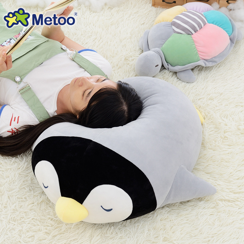 Candice Guo! Q Plush Toy Metoo Sea Animal Rainbow Color Turtle Penguin Papa Pillow Cushion Creative Birthday Christmas Gift 1pc