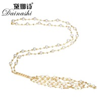 Dainashi 2016 New Arrival Freshwater Pearl Women Necklace Real Freshwater Peal Necklace White Pearl Jewelry Christmas Gift