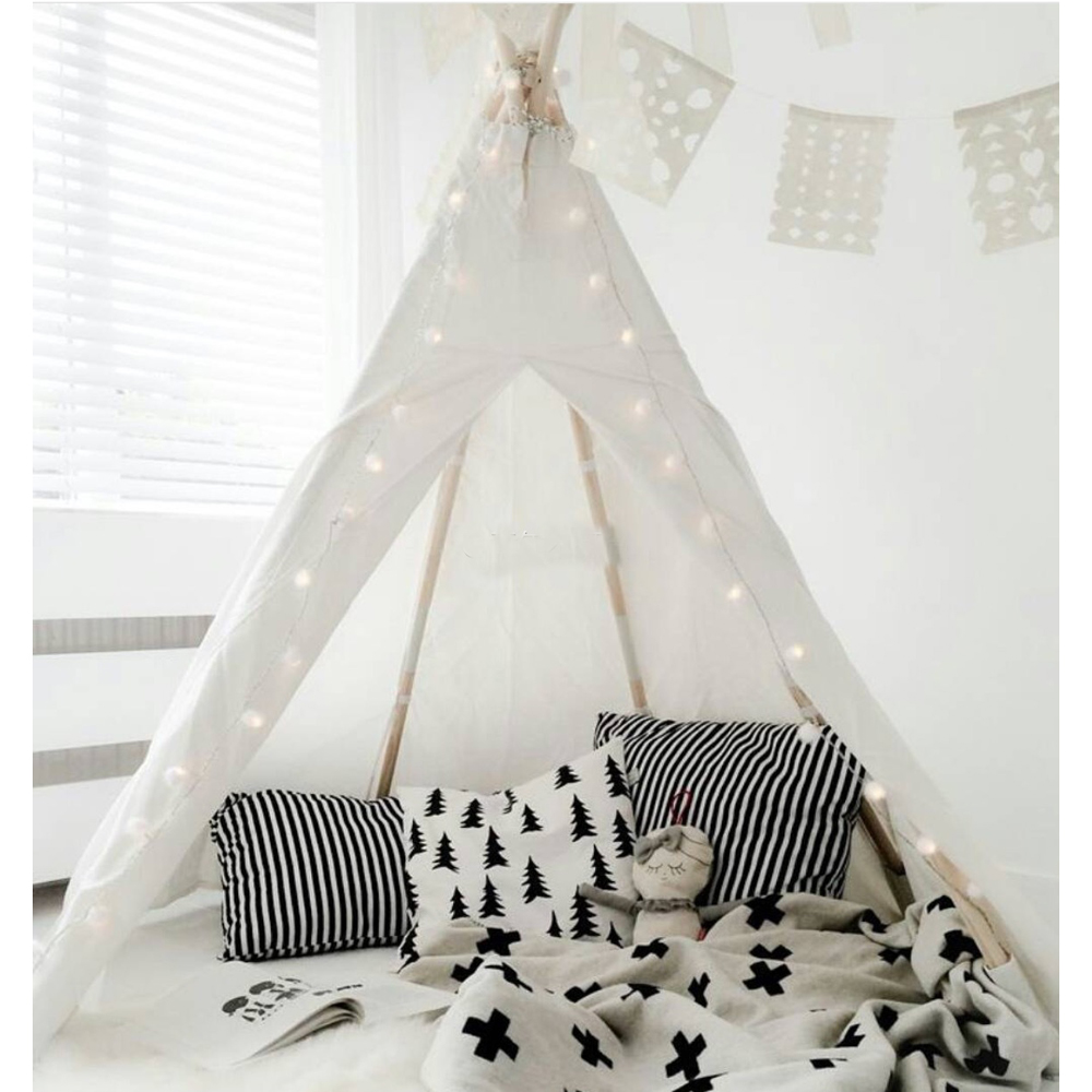 pure white kids play tent indian teepee children playhouse children play room-in Toy Tents from Toys u0026 Hobbies on Aliexpress.com | Alibaba Group  sc 1 st  AliExpress.com & pure white kids play tent indian teepee children playhouse ...