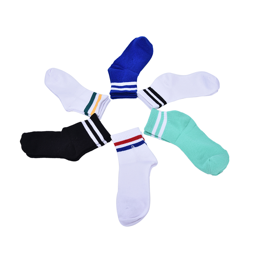1 Pair Cotton Men Brand Skate Socks Cotton Calcetines Deporte Hip Hop Harajuku Socks Unisex Colorful Striped Socks