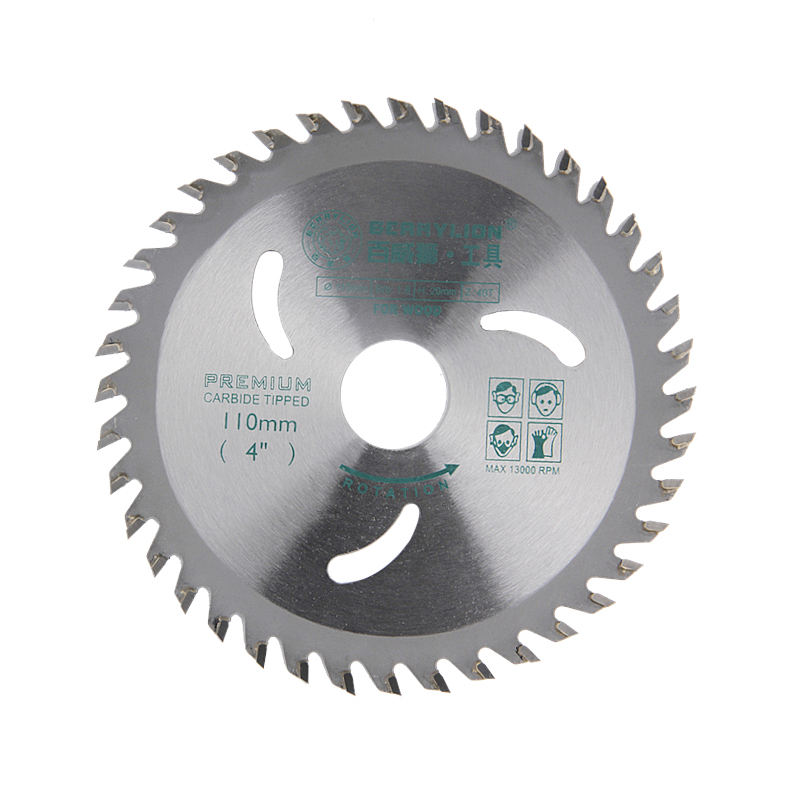 Hoja de sierra circular de aleación de acero de 4 '' / 110 mm 30 dientes / 40 dientes Discos de rueda para cortar madera Placa de hierro de aluminio Herramientas eléctricas