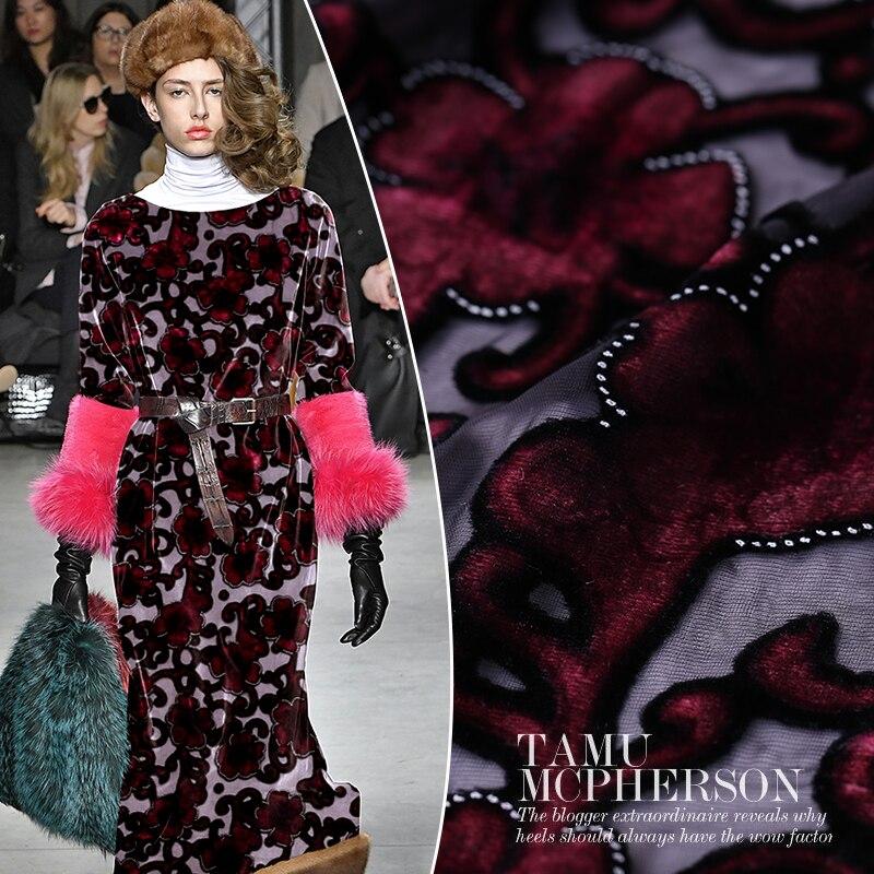 Tissu en soie robe jacquard tessuti couture coton velours tissu peluche tela terciopelo fleur tissus materiał tissus au metre