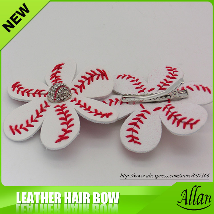 4a420390a87da Softball and Baseball flower Flip Flop Clips and Hair Clips-in Hair Jewelry  from Jewelry   Accessories on Aliexpress.com