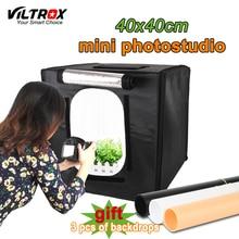 Viltrox 40*40cm Portable soft box lightbox Photo Studio light Box +LED Lamps Shooting Tent Kit For Canon Nikon Camera Smartphone