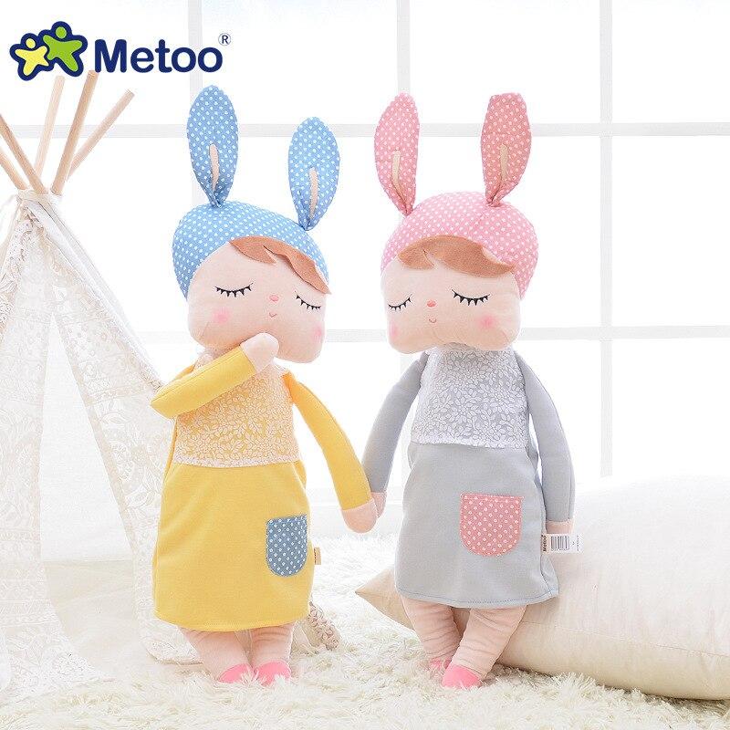 13 pulgadas de peluche de felpa Animal de peluche de dibujos animados para niños juguetes para niñas niños bebé regalo de Navidad de cumpleaños de Kawaii Metoo conejo Angela muñeca