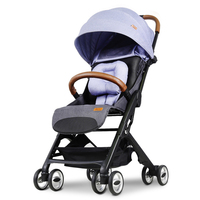 Lightweight baby stroller for a kid aluminum alloy can sit can sleep folding baby carriage