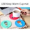 3 Colores de Dibujos Animados Creativo de Silicona Aislamiento Eléctrico Oficina Té Café Calentador de Dispositivo de Calefacción del USB Taza Caliente Coaster Pad Mat