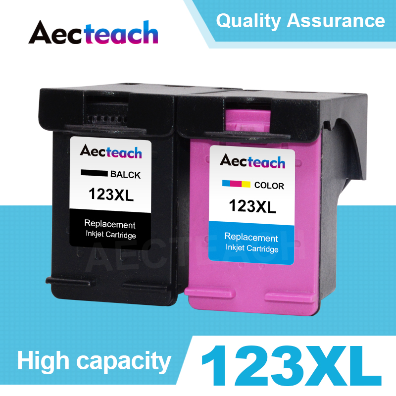 Aecteach Compatible 123XL Ink Cartridge Replacement For HP 123 XL Deskjet 1110 2130 2132 2133 3630 3632 3638 4520 Printer