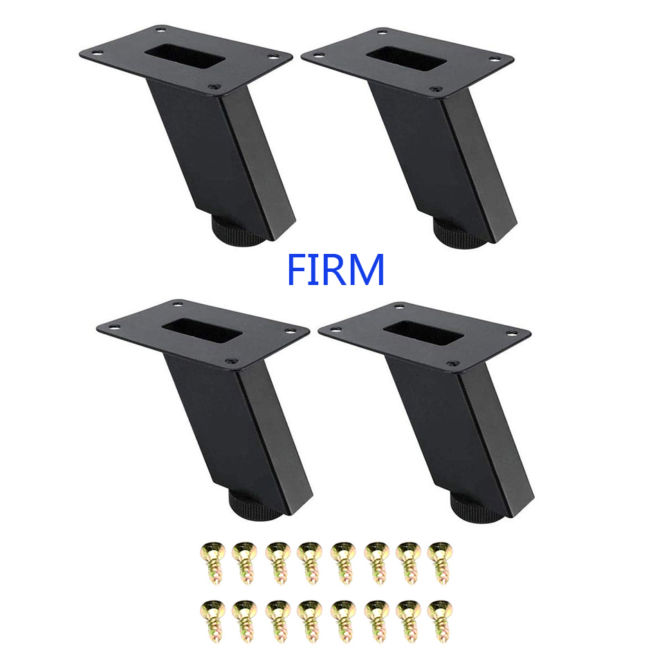 4Pcs Metal Furniture Legs, Square Tube Cabinet Feet Adjustable Table And Chair To Replace Oblique Feet Iron Coffee Table Sofa