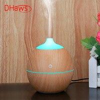 Dhaws umidificador aroma difusor 130 ml óleo essencial desfuser mini umidificador ultra sônico nebulizador usb atomização fragrância máquina|Umidificadores| |  -