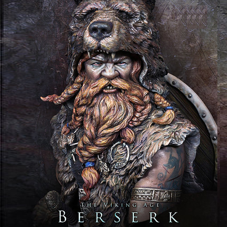 1/10 The Viking AGE Berserk Resin Kit Bust Figure GK Historical Themes Movie Role Uncoated No Colour