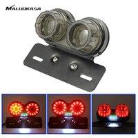 MALUOKASA DC 12V 40LED Motorcycle Taillight Turn Signal Indicators Custom Motorbike Rear Stop Lamp Brake Light
