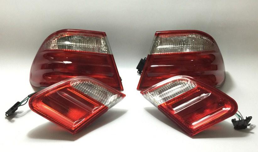 RQXR LED Rear Light + Brake Light + Turn Signal Rear Bumper Light Reflector For Mercedes-Benz E Class W210 E200 E220 E240 E260