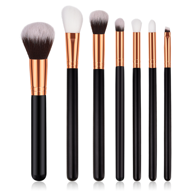 9d449ee12c56 US $0.63 28% OFF|ELECOOL 7/1pcs Makeup Brushes Superior Quality Novice  Black Cosmetic Brush High End Handle Nylon Hair Eye Brush Powder Brushes-in  Eye ...
