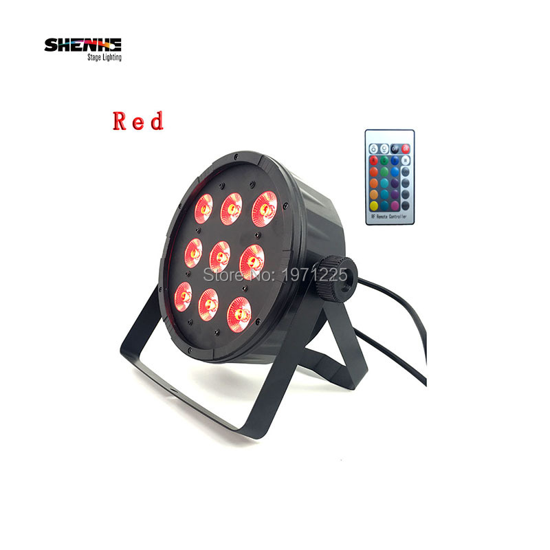 (2pcs) Remote control FREE shipping 9x12W LED Flat SlimPar Quad Light RGBW 4in1 LED Flat SlimPar Quad Can With DMX512 Flat DJ 30cm rgbw 16 color changing with remote control batter powered cordless rechargeable led light cube chair free shipping 2pcs lot