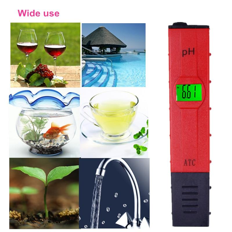 Pióro Cyfrowe akwarium Miernik temperatury PH Kompensacja ATC LCD - Przyrządy pomiarowe - Zdjęcie 5