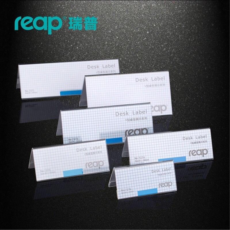 இpack Reap Mira Acrylic Vshape Desk Sign Holder Card Display - Restaurant table sign holders