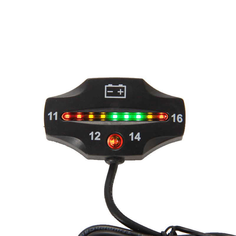 Mini 12V 24V LED Battery Gauge Meter with Control Switch For Car Marine MA1872