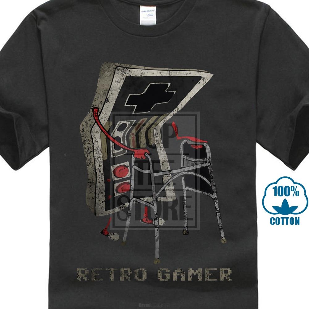 Short Sleeve T Shirt Retro Gamer T Shirt Gaming Admin Pc Fun Shirt Grandfather Opa Geek Nerd Freak