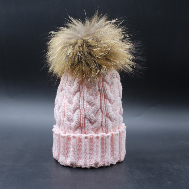 2016 New Beanies Women Hat Winter Outdoor Warm Caps Mink And Fox Fur Ball Cap Pom Poms Ear Protection Hats For Girl Colorful foreign trade explosion models in europe and america in winter knit hat fashion warm mink mink hat lady ear cap dhy 36