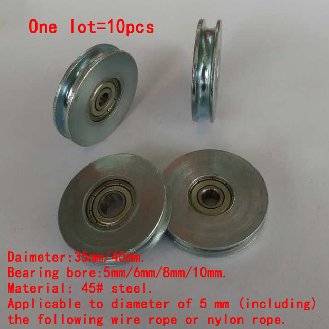 diameter 35mm or 40mm steel thickness 8mm wire rope rollers pulleys