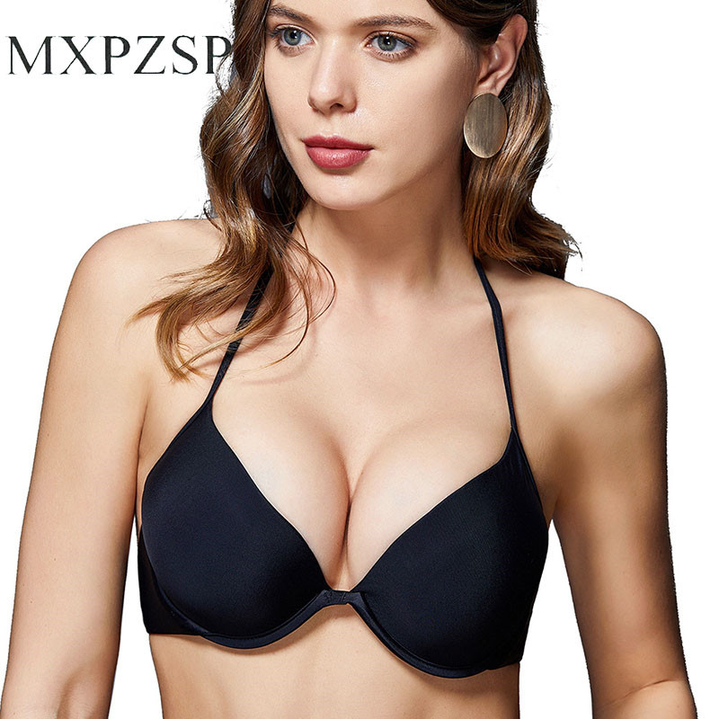 Bandage Bikini Tops Black Sexy Bra Women Swimsuit Push Up Ultrathin Padded Bandage Bikini Top Swimwear Swimsuit Solid Beachwear