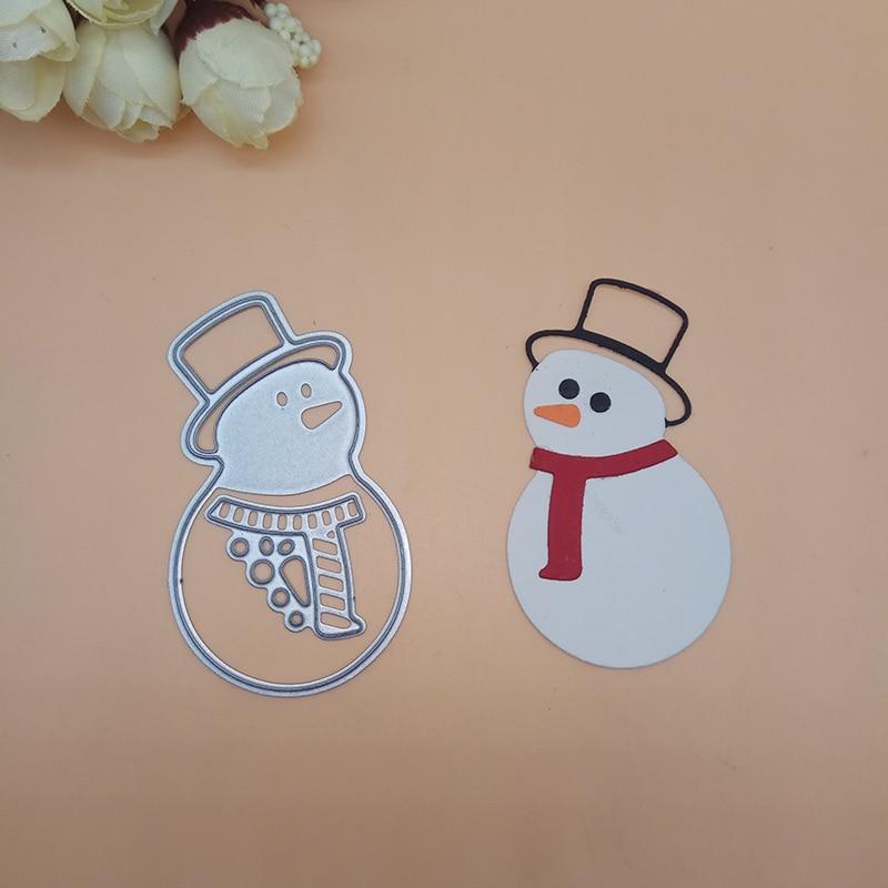 Christmas Snowman Metal Cutting Dies Stencil DIY Scrapbooking Album Stamps