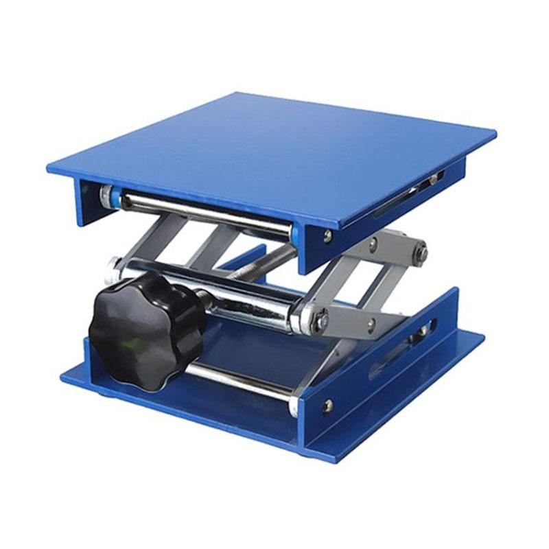 Adjustable 4X4'' Aluminum Oxide Laboratory Lab-Lift Lifting Platforms Lab Jack Scissor Foldable Lifting Table 100X100X150mm