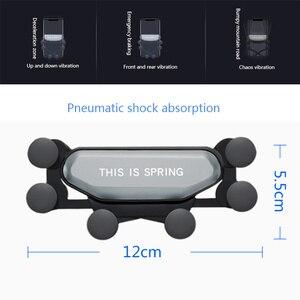 Image 4 - Mise à niveau modèle support de téléphone de voiture support de gravité Gadget de voiture antidérapant évent de voiture Amout téléphones accessoires de voiture Automobile