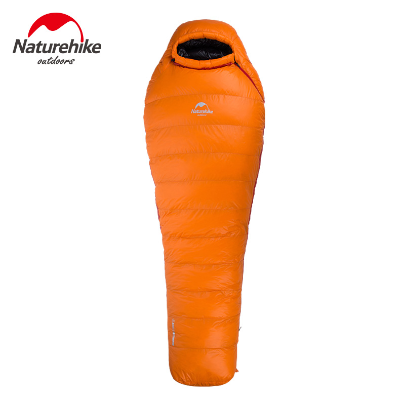 Naturehike Outdoor Camping Winter Sleeping Bag Down Sleeping Bag Mummy Single Sleeping Bag With Hooded Fr Cold Weather outdoor winter camping tent backpacking mummy sleeping bag