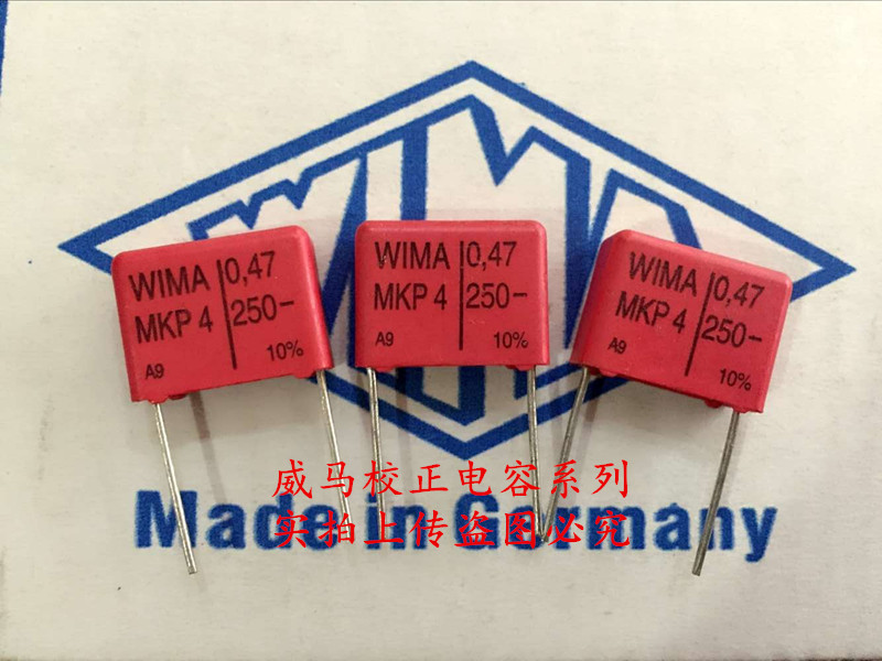 2019 Hot Sale 10pcs/20pcs German Capacitor WIMA MKP4 250V 0.47UF 250V 474 470N P: 15mm Audio Capacitor Free Shipping
